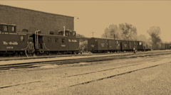 Old Film Steam Locomotive Going Forward Stock Footage