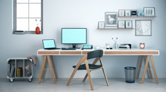 Workplace At Home Office Stock Footage