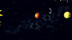 Stock Video Footage of Solar System With Planets Label