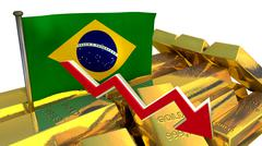 Currency collapse - Brazilian real Stock Illustration