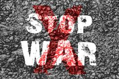 Stock Illustration of Text for Stop War on grunge background
