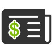 Financial News Icon from Commerce Set Stock Illustration