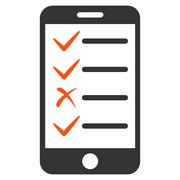 Mobile Tasks Icon from Commerce Set - stock illustration