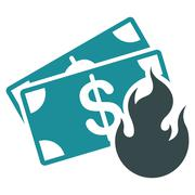 Fire Accident Icon from Commerce Set - stock illustration