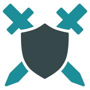 Guard Icon from Commerce Set - stock illustration