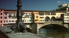 ULTRA HD 4K real time shot,The  Ponte Vecchio in Florence, Stock Footage