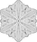 Abstract vector round lace design - mandala, decorative element - stock illustration
