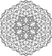 Abstract vector round lace design - mandala, decorative element - stock illustration