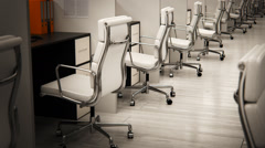 Empty Chairs In Office Stock Footage