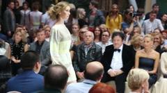 Stock Video Footage of Models on catwalk in Zurab Tsereteli Art Gallery
