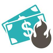 Fire Accident Icon from Commerce Set Stock Illustration
