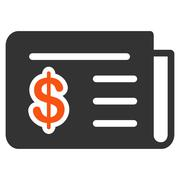 Financial News Icon from Commerce Set - stock illustration