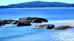 Australian Beach Scene Stock Footage