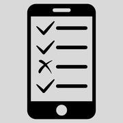 Mobile Tasks Icon from Commerce Set Stock Illustration