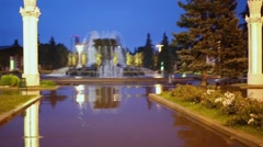 Fountain Friendship of Peoples at All-Russia Exhibition Center Stock Footage