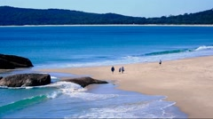 Australian seascape, South West Rocks. - stock footage