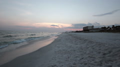 Stock Video Footage of Seagulls leaving the beach at sunset - Florida Gulf Coast
