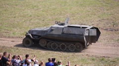 German armored personnel carrier OT-810 at military festival Stock Footage