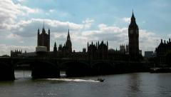 Westminster by the Thames 2015 - stock footage