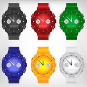 Vector illustration of modern wristwatch Stock Illustration