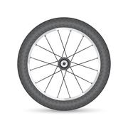 Bicycle wheel Stock Illustration