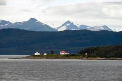 Admiralty Island Point Retreat Light House Inside Passage - stock photo