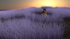 Field Photographer at Sunrise Fantasy Scene Piirros