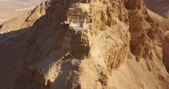 4K Aerial View of MASADA, ISRAEL Stock Footage
