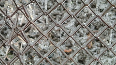 Metal grid in ice Stock Footage