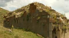 Old Monastry Ruin Overgrown - stock footage