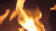 Closeup of a Bonfire in a Campfire Pit Stock Footage