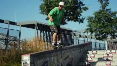 Skateboarder in the park Stock Footage