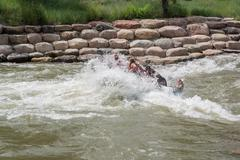 Rafting the Colorado River - stock photo