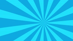 4k teal and blue cartoon sun burst seamless loop motion background Stock Footage