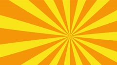 4k yellow and orange cartoon sun burst seamless loop motion background Stock Footage