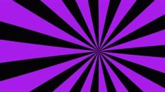 4k purple and black cartoon sun burst seamless loop motion background Stock Footage