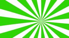4k green and white cartoon sun burst seamless loop motion background Stock Footage