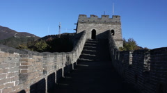 Chinese Great Wall watchtower, Mutianyu Stock Footage