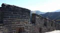Walking the Great Wall in China Stock Footage