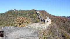 China Great Wall, mountaintop, Mutianyu Stock Footage
