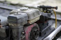 Old oily machine Stock Photos