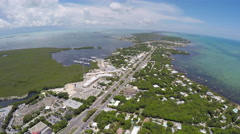 Stock Video Footage of Florida Keys Key Tarvernier aerial 1
