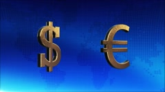 Money currency luxury symbol, business Background Stock Footage
