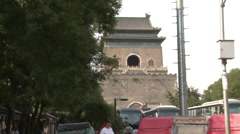 Beijing Bell Tower, Ancient China Stock Footage