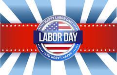 labor day star sign illustration design graphic - stock illustration