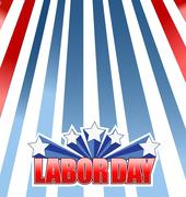 Labor day star sign illustration design Stock Illustration