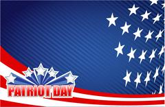 Stock Illustration of patriot day star sign illustration design