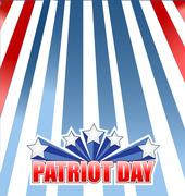 Patriot day star sign illustration design Stock Illustration