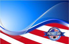 Stock Illustration of US patriot day sign illustration design