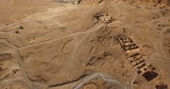 Ascending 4K Aerial View of MASADA, ISRAEL Stock Footage